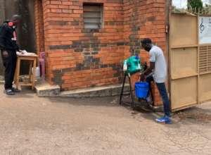Handwashing at the gate