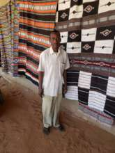 Weaver with his tera-tera weavings