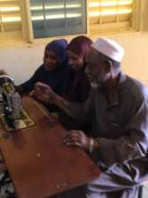ONG DIMA students learn to maintain sewing machine