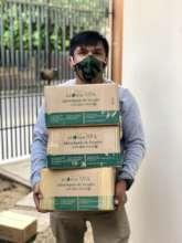 Receiving first shipment of liquid hand soap