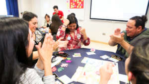 Active learning through board game