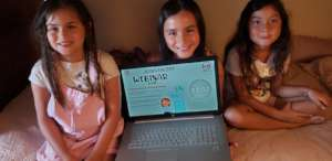 Some of the girls who benefited from the webinars.