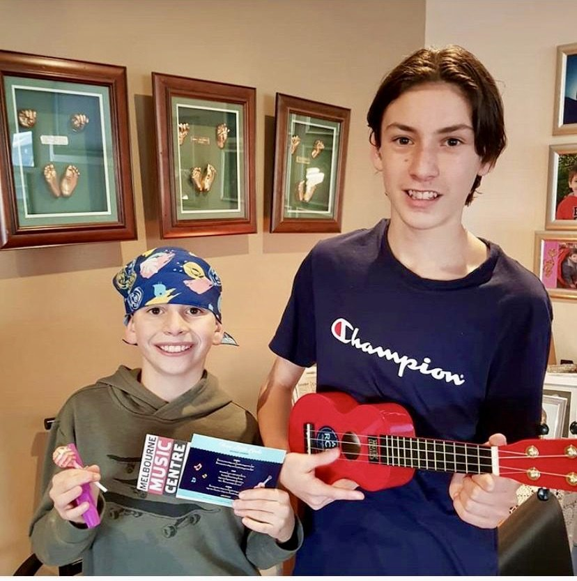 Ukuleles for kids with brain cancer