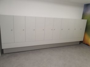 Locker room for people with disabilities.