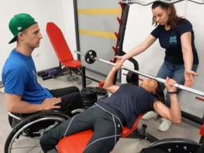 Gym for people with physical disabilities