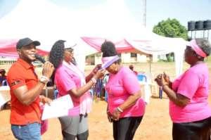 ASA Women USA honoring a breast cancer survivor