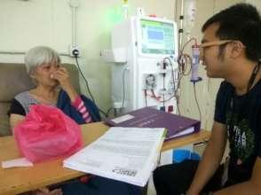 Dialysis treatment in progress