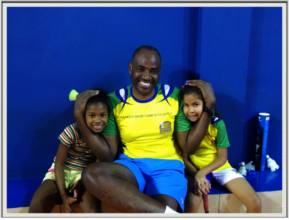 Sebastian Oliviera & Children at Badminton Center