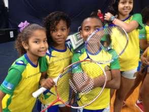 Children at Miratus Badminton Training Center