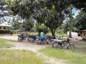 Motorbikes used to transport food