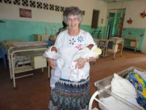 Mary with twins