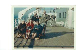 Mary leaving Southampton for Congo Nov 1965