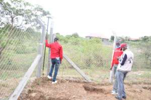 Conducting Topography survey of the site