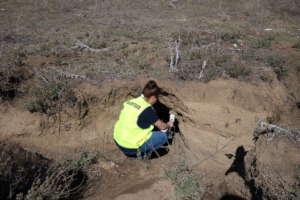 Installing a burrow-flap
