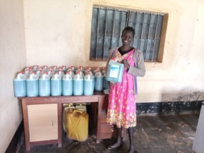 Soap works for Margaret, 28 with limited mobility