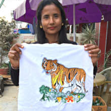 Sarita was one of 30 artists to make Tiger squares