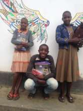 Our Primary 7 Students with school supplies