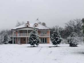 Our first snow of the season at The JOY Home