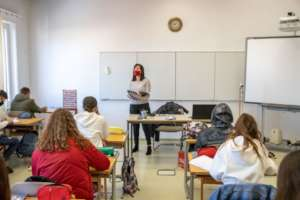 Mrs. Tasellari, high school English teacher