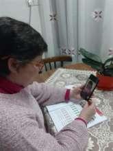Mrs. Mihili teaching from home