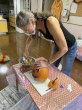 Carving a Pumpkin from my Garden