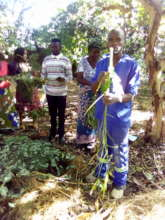 Villagers come to learn how to make our compost