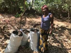 preparing compost