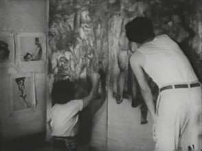 The Marukis painting the panels #2
