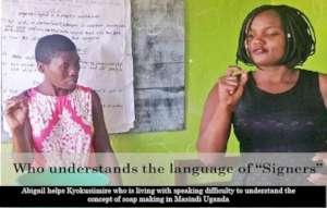 Facilitator helps disabled woman