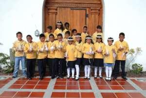 Graduation of a school group