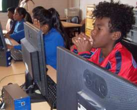 Students on their online class