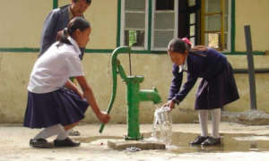 Clean drinking water for school girls