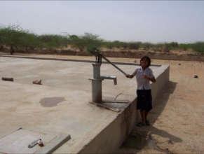 Handpump Draws Clean Drinking Water