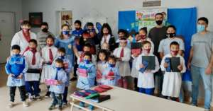 Donation of school supplies for students