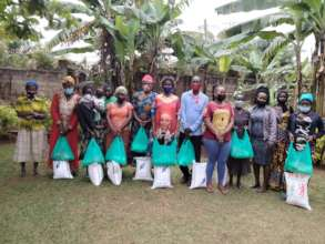 Part of the women that received food relief