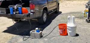 Portable Solar Unit with Arsenic filter attachment