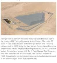 """Uranium tailing dump site """"Rare Metals""""."""