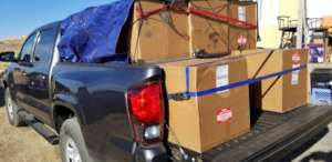 Truck load of filters for Hopi Reservation