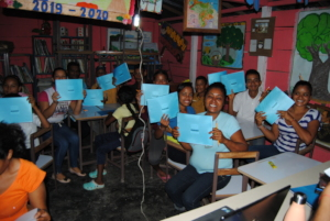 Participants with their notebooks