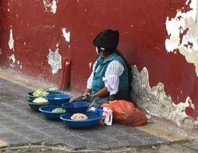 Humanitarian Aid to Street Vendors in Otavalo