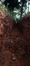 A photo of the trench that was dug