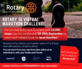 Rotary 10 Virtual Marathon for Ballymena Charities
