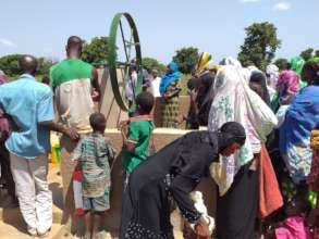 The day of the unveiling of the borehole