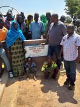 Unveiling of the commemorative plaque on borehole