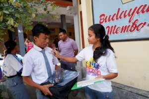 School Supplies distribution in Gianyar