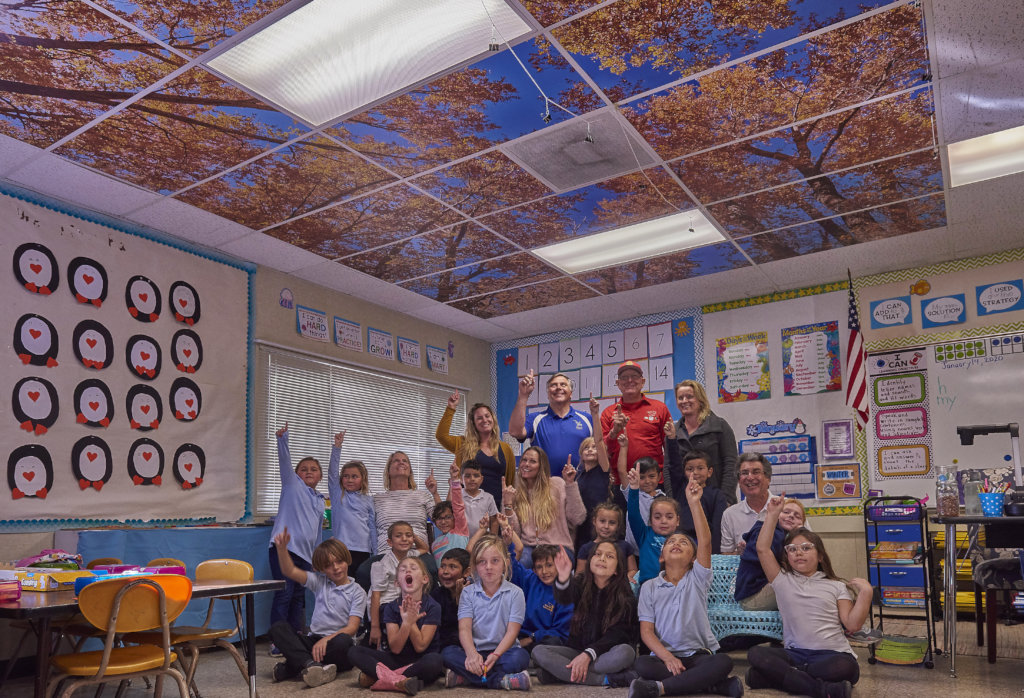 Enhancing Education With Tree Ceilings