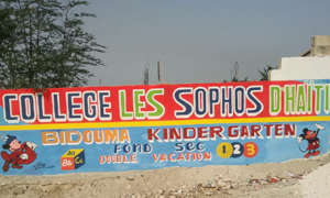 The Outside Wall of College Les Sophos