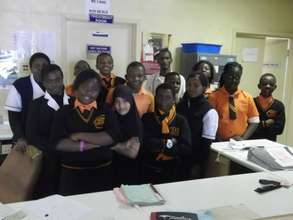 Students and hospital staff