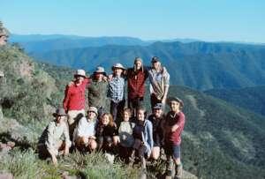 Hiking group on Mt Crinoline