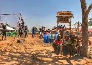 TPOP playground in South Sudanese refugee camp